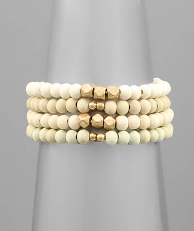 June Wood Stack Bracelet
