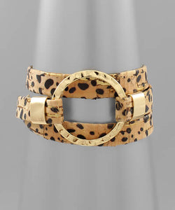April Leopard Wrap Bracelet