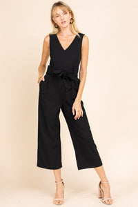 Adley Tie Waist Crop Jumpsuit