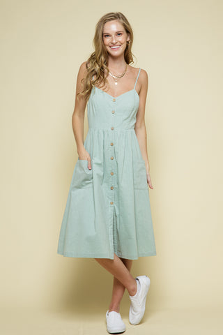 PreOrder Ellery Linen Button Front Midi Dress