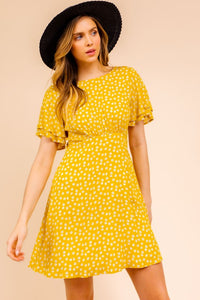 Armelle Short Sleeve Printed Mini Dress