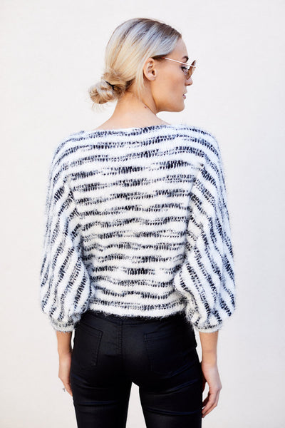 fab'rik - Dream Striped Cropped Sweater image thumbnail