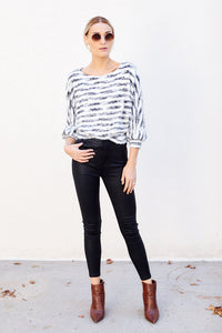 Dream Striped Cropped Sweater