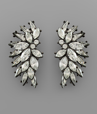 Crystal Cluster Wing Earring