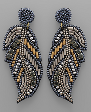 Load image into Gallery viewer, Beaded Feather Earring