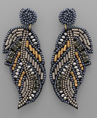 fab'rik - Beaded Feather Earring image thumbnail
