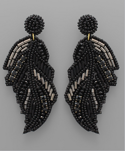 Beaded Feather Earring