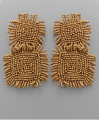fab'rik - Beaded Square Earrings image thumbnail