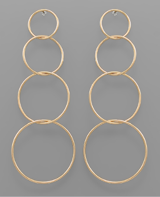 Circle Link Linear Earrings