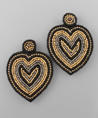 fab'rik - Beaded Heart Earrings image thumbnail