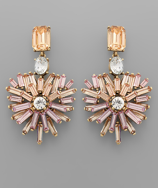 fab'rik - Heart Burst Crystal Earrings image thumbnail