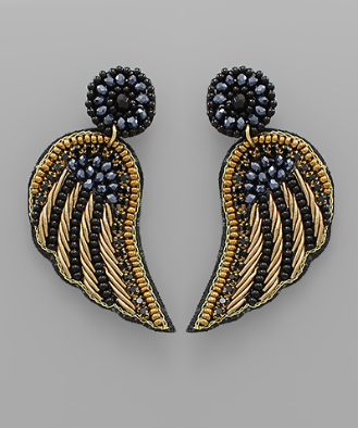 fab'rik - Beaded Wing Earrings ProductImage-13567595184186