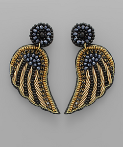 Beaded Wing Earrings