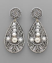Load image into Gallery viewer, Beaded Teardrop Earring