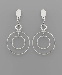 Ava Circle Earrings