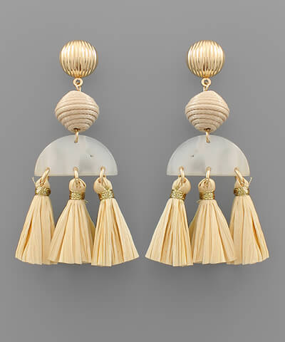 fab'rik - Evie Raffia Tassel Earrings ProductImage-13849865715770