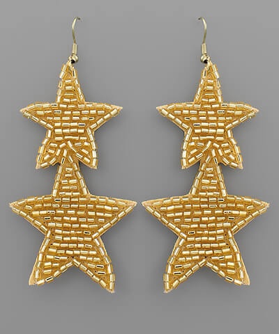 Sequin Star Earrings