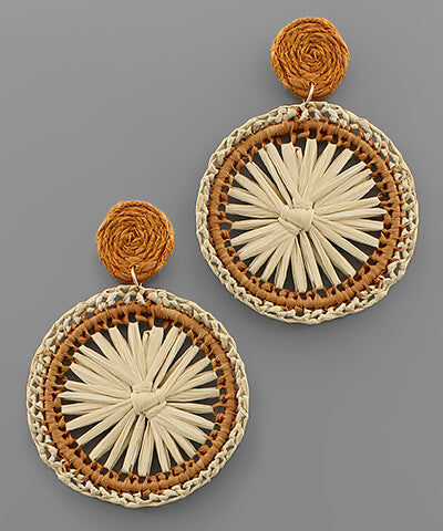 Willa Raffia Earrings