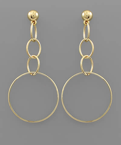 Cora Circle Earrings