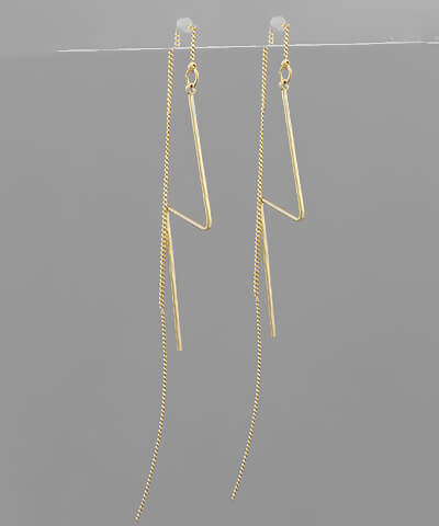 fab'rik - Henley Lightning Bolt Threaded Back Earring ProductImage-13850138837050