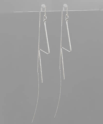 Henley Lightning Bolt Threaded Back Earring