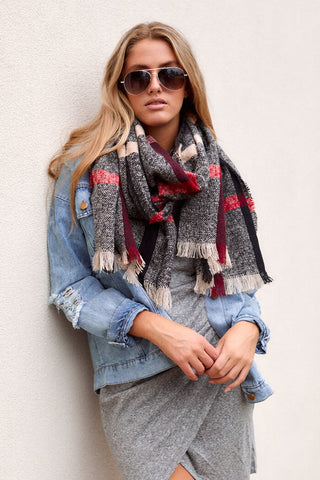 Valley Plaid Scarf