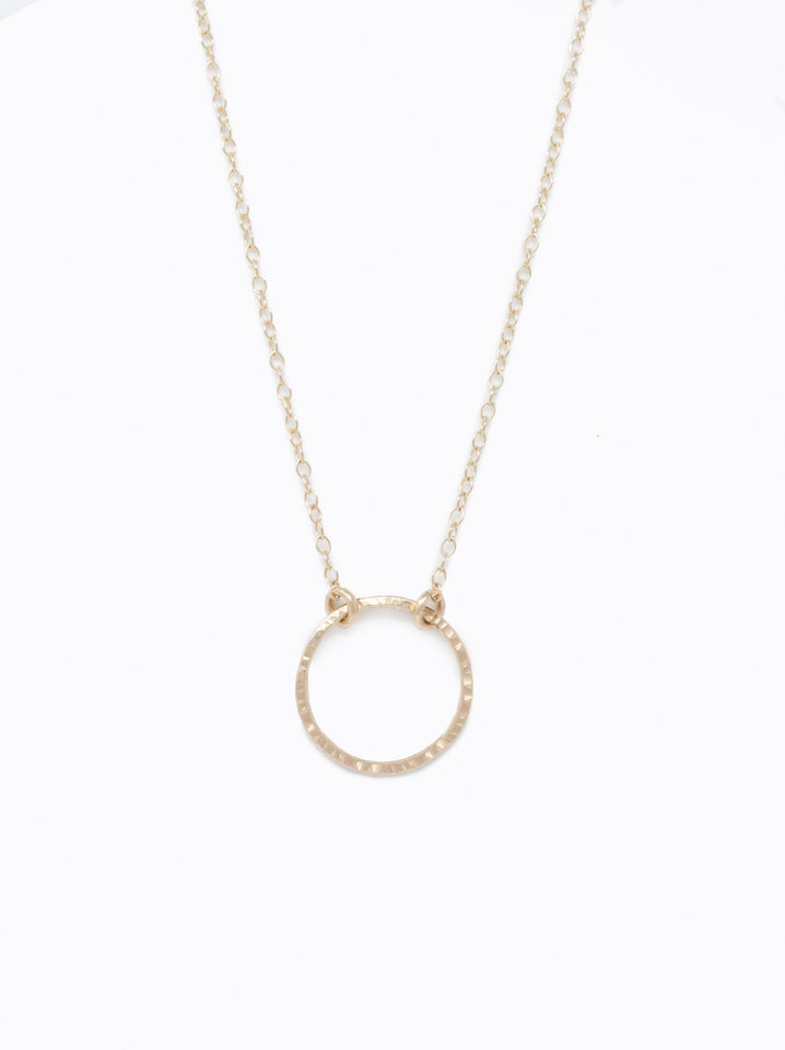 Floating Shape Necklace: Gold Circle
