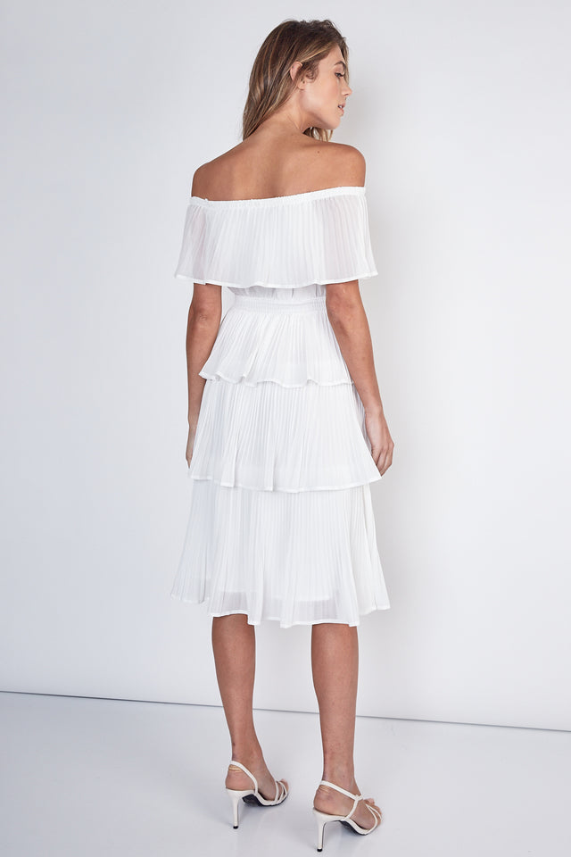 PreOrder Lexie Pleated Tiered Midi Dress