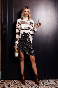Birdie Velvet Sequin Skirt