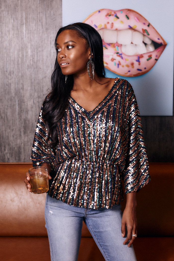 fab'rik - Elie Sequin Peplum Blouse ProductImage-13289484746810