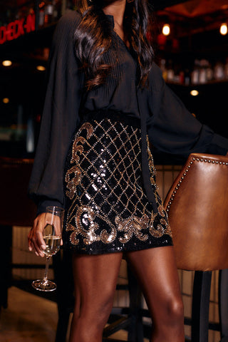 Carsten Sequin Mini Skirt