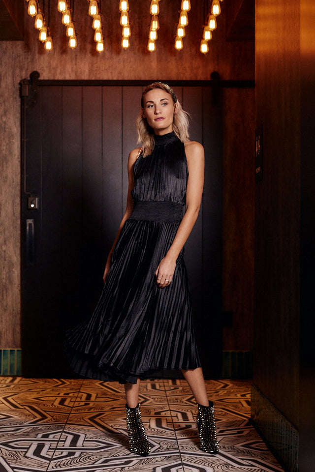 Ellarosa Pleated Midi Dress