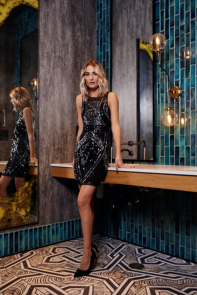 fab'rik - Meeton Sleeveless Sequin Dress image thumbnail