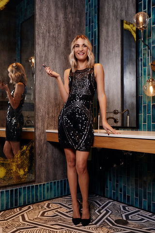 Meeton Sleeveless Sequin Dress