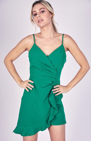 Florence Ruffle Hem Cocktail Dress