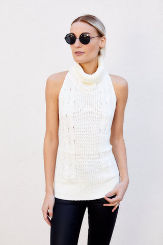 Isabella Sleeveless Turtleneck Sweater
