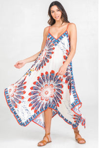 PreOrder Dawn Feather Printed Handkerchief Dress
