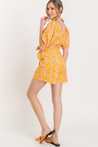Montague Floral Print Puff Sleeve Dress