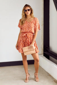 SALE - Ember Printed Tiered Mini Dress