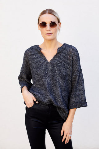 Luca V Neck Knit Sweater
