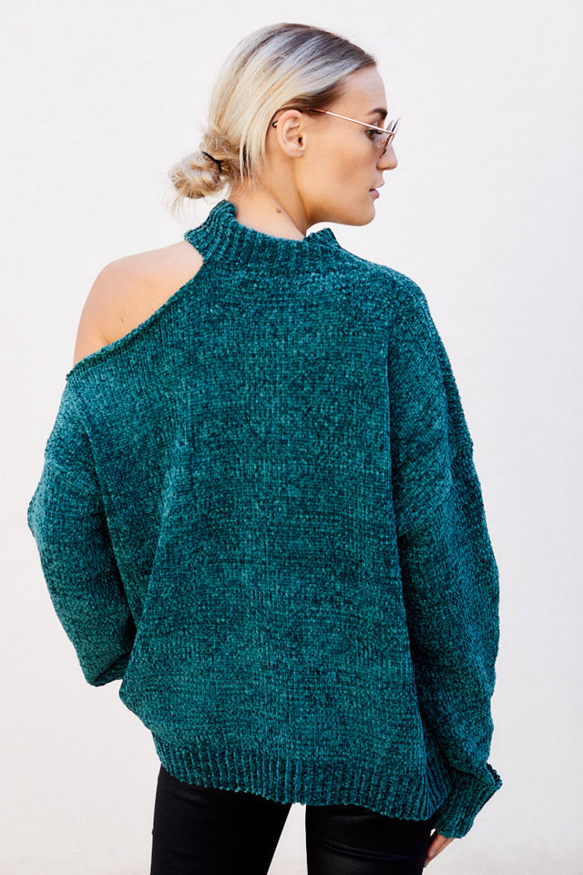 Mel Cut Out Chenille Sweater