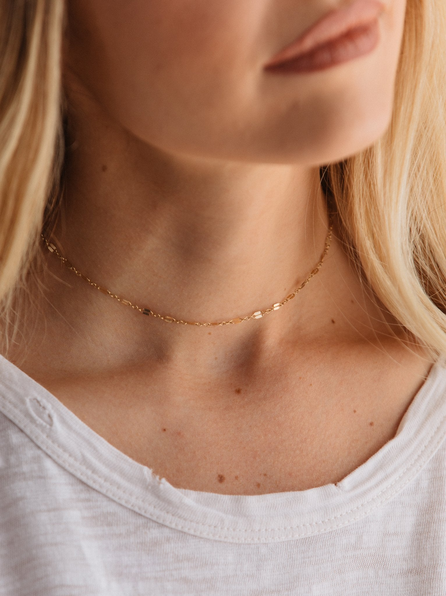 fab'rik - Metal Link Choker: Gold ProductImage-14321060216890