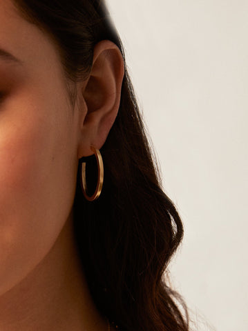 Muse Hoop Earrings: Gold