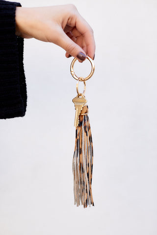 Naomi Leather Tassel Key Chain