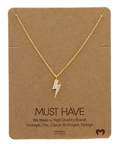 Must Have Lightning Bolt Necklace