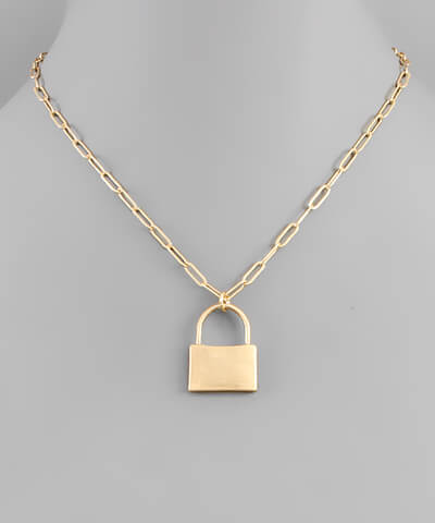 fab'rik - Lock & Chain Necklace ProductImage-13849354240058
