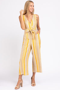 PreOrder Bloom Stripe Tie Front Jumpsuit