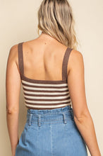 Load image into Gallery viewer, Senn Stripe Crop Knit Top