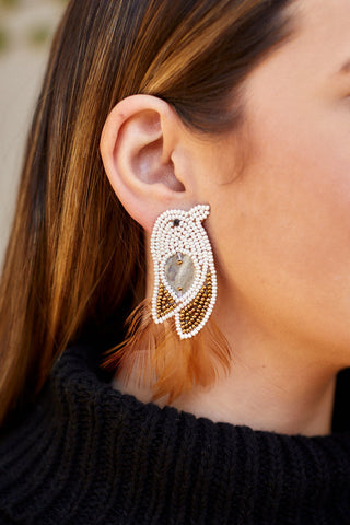 Alexa Feather Bird Earrings