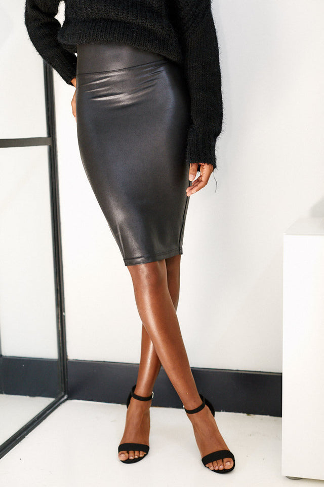 PreOrder Spanx Faux Leather Pencil Skirt